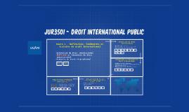 JUR3501 - Droit international public