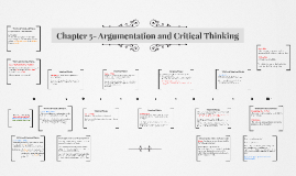 Copy of Chapter 5- Argumentation and Critical Thinking