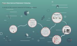 Papua New Guinea/Polynesiean Facial Tattooing