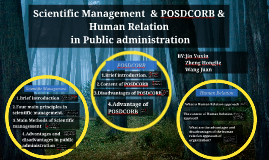 Copy of Scientific Management  & POSDCORB & Human Relation