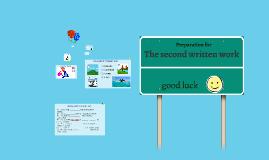 The second written work