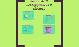 Pensum del 2 heldagsprøve Bi 2 vår 2019