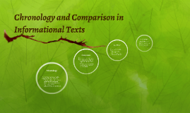 Chronology and Comparsion in Informational Texts