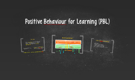 Positive Behaviour for Learning (PBL)