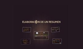 ELABORACÓN DE UN RESUMEN