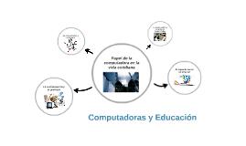 Computadoras y Educación