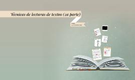 Técnicas de lecturas de textos