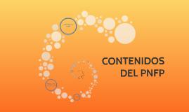 CONTENIDOS DEL PNFP