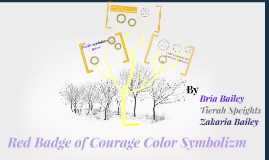 symbolism in red badge of courage When reading the red badge of courage, it is necessary to understand the symbolism that stephen crane has created throughout the whole book without understanding the true intent of color use, this book loses a meaningful interpretation that is needed to truly understand the main character, his feelings and actions.
