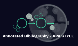 Annotated Bibliography - APA STYLE