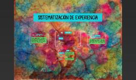 SISTEMATIZACIÓN DE EXPERIENCIA