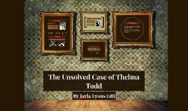 Thelma Todd Murder Case