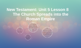 New Testament: Unit 5 Lesson 8