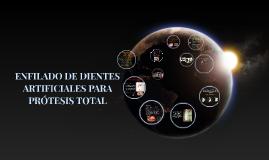 ENFILADO DE DIENTES ARTIFICIALES