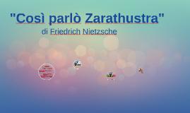 """""""Così parlò Zarathustra"""" di Friedrich Nietzsche"""