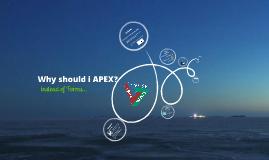 Why should i APEX?