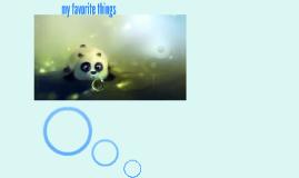 my favorite thimgs