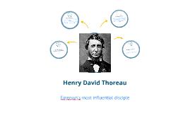 Copy of Henry David Thoreau