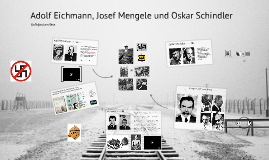 Adolf Eichmann, Josef Mengele and Oskar Schindler : The National Socialism and it´s personalities