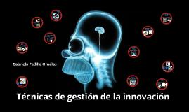 Técnicas de gestión de la innovación