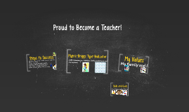 Proud to Become a Teacher!