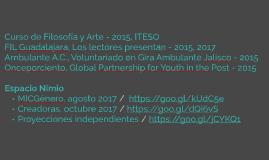 Curso de Filosofía y Arte - 2015, ITESO