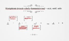 Copy of Copy of Wystąpienia przeciw władzy komunistycznej – czas PRL-u
