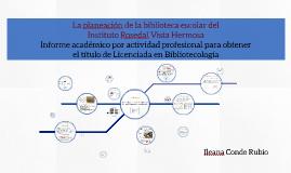 La planeación de la biblioteca escolar del Instituto Rosedal