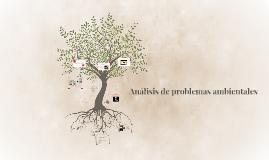 Analisis de problemas ambientales