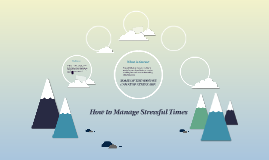 How to Manage Stressful Times