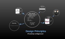 Design Principles - Proximity/Alignment