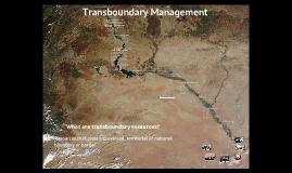 Transboundary Management