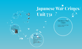 Japan War Crimes/Unit 731