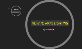 HOW TO MAKE LIGHTNING