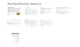 Post Ratification America