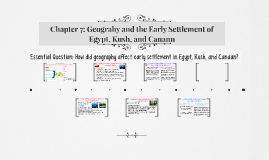 Chapter 7: Geograhy and the Early Settlement of Egypt, Kush,