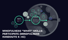 "MINDFULNESS ""WHAT"" SKILLS: PARTICIPATE (MINDFULNESS HANDOUTS"