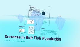 Decrease in Bait Fish Populations