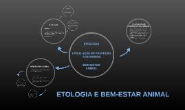 ETOLOGIA E BEM-ESTAR ANIMAL