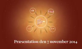 Præsentation den 7 november 2014