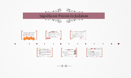 Significant Events in Judaism