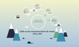 Fallo en las comunicaciones vuelo VFR y IFR
