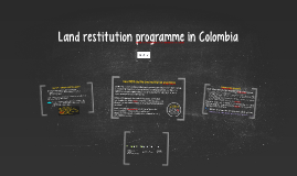 Land restitution programme in Colombia
