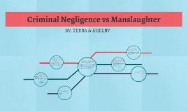 Criminal Negligence vs Manslaughter