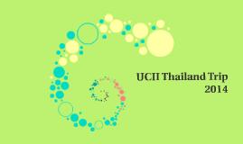 UCII Thailand Trip 2014