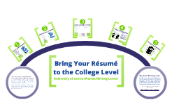 Copy of Bring Your Resume to the College Level