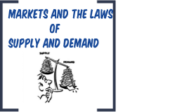 Markets, Law of Demand and Supply