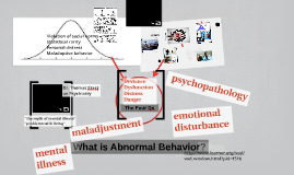 What is Abnormal Behavior?