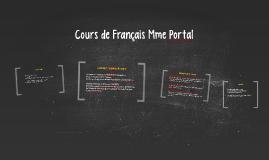 Cours de Français Mme Portal