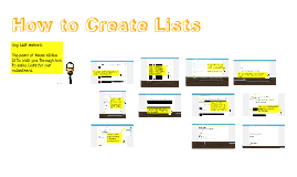 How To: Create Lists